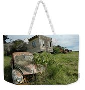 Derelict Morris And Old Truck On An Abandoned Farm Weekender Tote Bag