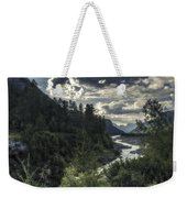 Desaturated Mountainscape Weekender Tote Bag