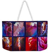 Descent Into Heaven Assemblage In Lower Antelope Canyon In Lake Powell Navajo Tribal Park In Page-az Weekender Tote Bag