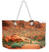 Desert Hiking Among The Sandstones Weekender Tote Bag
