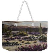 Desert In Bloom At Dusk Weekender Tote Bag