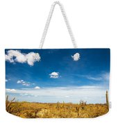 Desert Landscape With Deep Blue Sky Weekender Tote Bag