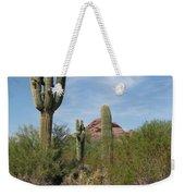 Desert Landscape With Saguaro Weekender Tote Bag