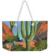 Desert Morning Saguaro Weekender Tote Bag