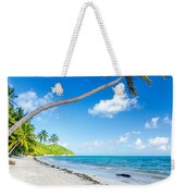 Deserted Beach And Palm Trees Weekender Tote Bag
