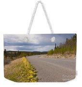Deserted Rural Highway Yukon Territory Canada Weekender Tote Bag