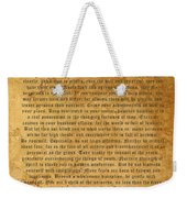 Desiderata Weekender Tote Bag by Kurt Van Wagner