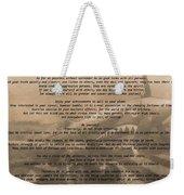 Desiderata Military Weekender Tote Bag