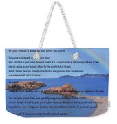 Desiderata On Beach Scene With Rainbow Weekender Tote Bag