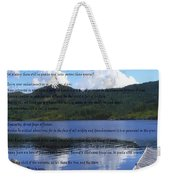 Desiderata On Pond Scene With Mountains Weekender Tote Bag