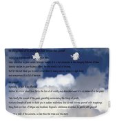 Desiderata On Sky Scene With Full Moon And Clouds Weekender Tote Bag