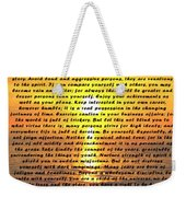 Desiderata Pismo Beach Golden Sunset Weekender Tote Bag