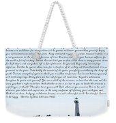Desiderata Santa Cruz Lighthouse Weekender Tote Bag