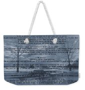 Desiderata Winter Scene Weekender Tote Bag