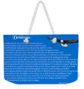 Desiderata With Bald Eagle Weekender Tote Bag