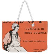 Design For The Front Cover Of 'the Savoy Complete In Three Volumes' Weekender Tote Bag