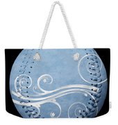 Designer Light Blue Baseball Square Weekender Tote Bag