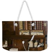 Desk With Quill Pens Weekender Tote Bag