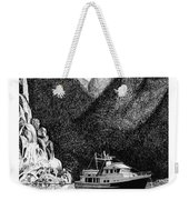 Anchored Safe Chatterbox Falls, British Columbia Inside Passage Weekender Tote Bag