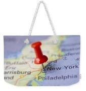 Destination To New York Weekender Tote Bag