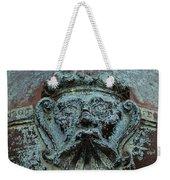Detail Of A Bronze Mortar Weekender Tote Bag