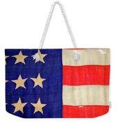 Detail Of A Civil War Flag In Drummer Weekender Tote Bag