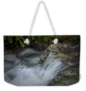 Detail Of A Small Water Fall In A Stream Weekender Tote Bag