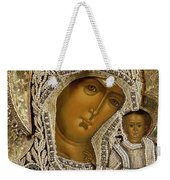 Detail Of An Icon Showing The Virgin Of Kazan By Yegor Petrov Weekender Tote Bag