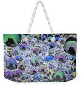 Detail Of Rainbow-colored Bubbles Weekender Tote Bag