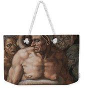 Detail Of The Last Judgment Weekender Tote Bag by Michelangelo