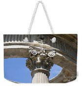 Detailed View Of Corinthian Order Column Weekender Tote Bag
