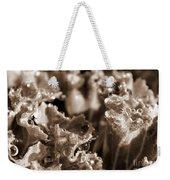 Details In The Dew Sepia Weekender Tote Bag
