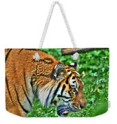 Determination In The Tigers Stare Weekender Tote Bag