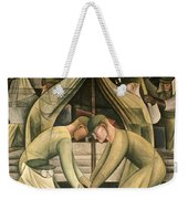 Detroit Industry  South Wall Weekender Tote Bag by Diego Rivera