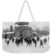 Detroit Michigan Skating At Belle Isle Weekender Tote Bag by Anonymous