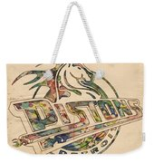 Detroit Pistons Retro Poster Weekender Tote Bag
