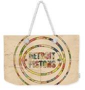 Detroit Pistons Vintage Logo Weekender Tote Bag