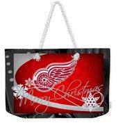 Detroit Red Wings Christmas Weekender Tote Bag