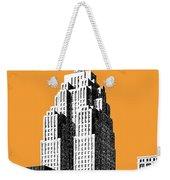 Detroit Skyline 2 - Orange Weekender Tote Bag