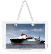 Detroit - The Ss Aquarama - Detroit To Cleveland - 1955 Weekender Tote Bag