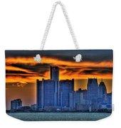 Detroits Sky Weekender Tote Bag by Nicholas  Grunas