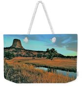 Devils Tower Daybreak Weekender Tote Bag