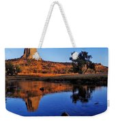 Devils Tower Morning Weekender Tote Bag