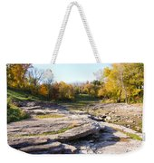 Devonian Fossil Gorge Coralville Lake Ia 3 Weekender Tote Bag