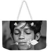 Devotion Bw Weekender Tote Bag