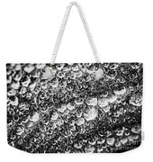 Dew Drops On Leaf Weekender Tote Bag