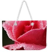 Dew Drops On Pink Weekender Tote Bag