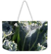 Dew Drops On Silvery Frill Weekender Tote Bag