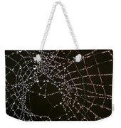 Dew Drops On Spider Web 4 Weekender Tote Bag