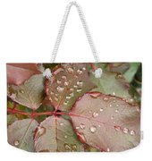 Dew Drops On The Rose Leaves Weekender Tote Bag